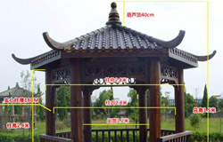 常见的六角凉亭尺寸和样品图片