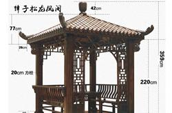 四角凉亭的长宽高一般是多少米